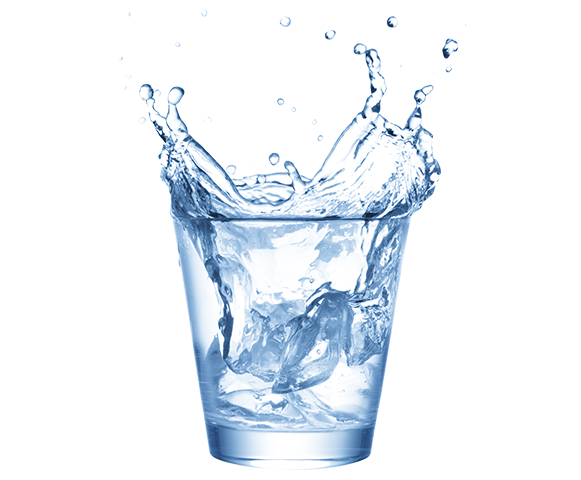 glass of soft water